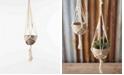 Kalalou Cotton Macrame Hanger w/Clay Pot