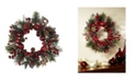 "Nearly Natural 22"" Apple Berry Wreath"