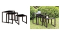 Furniture of America Lodge 3 Piece Patio Nesting Table