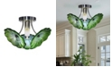 "Dale Tiffany Waterfront 15""W Hand Blown Art Glass Semi Flush Mount"