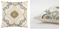 """Rizzy Home 20"""" x 20"""" Medallion Pillow Cover"""