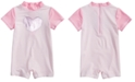 First Impressions Baby Girls Heart Romper-Style Rash Guard, Created for Macy's