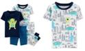 Carter's Baby Boys 4-Pc. Monster-Print Cotton Pajamas Set