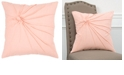 """Rizzy Home 18"""" x 18"""" Twisted Tacked Knot Down Filled Pillow"""