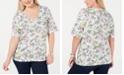 Karen Scott Plus Size Citrus Luxe T-Shirt, Created for Macy's