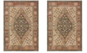 "Oriental Weavers Toscana 9545D Orange/Blue 1'10"" x 3' Area Rug"