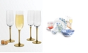 Martha Stewart Collection CLOSEOUT! Gold Stem Champagne Glasses, Set of 4, Created for Macy's