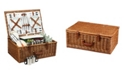 Picnic At Ascot Dorset English Style Willow Picnic, Coffee Basket -Service for 4