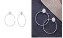Catherine Malandrino Women's Polished Circle Silver-Tone Hoop Earrings