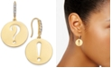 kate spade new york  Gold-Tone Punctuation Drop Earrings