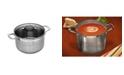 """Swiss Diamond Premium Steel Stock Pot with Lid - 9.5"""" , 7.6 QT."""