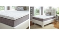 "Future Foam 14"" Comfort Loft Gray Rose with Ebonite Full Memory Foam and Comfort Choice, Medium Firmness"