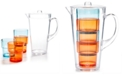 Martha Stewart Collection 5-Pc. Acrylic Pitcher & Stackable Tumbler Set, Created for Macy's