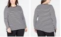 Michael Kors Plus Size Striped Top