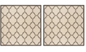 """Safavieh Linden Natural and Brown 6'7"""" x 6'7"""" Square Area Rug"""