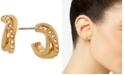 Laundry by Shelli Segal Gold-Tone Pavé Huggie Small Hoop Earrings  s