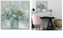 """Courtside Market Blue Bouquet Gallery-Wrapped Canvas Wall Art - 16"""" x 16"""""""