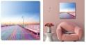 "Courtside Market Pastel Seaside Pier Lara Skinner Gallery-Wrapped Canvas Wall Art - 16"" x 16"""