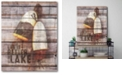 """Courtside Market Life is Better at The Lake Gallery-Wrapped Canvas Wall Art - 16"""" x 20"""""""