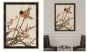 "Melissa Van Hise Songbird and Cherry Blossoms Framed Giclee Wall Art - 35"" x 47"" x 2"""