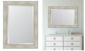 "Melissa Van Hise White Catalina Framed Mirror - 32"" x 44"" x 2"""