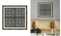 """Melissa Van Hise Woodblocks III Framed Giclee Wall Art - 22"""" x 22"""" x 2"""""""