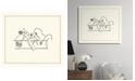 "Melissa Van Hise Playing Tennis Framed Giclee Wall Art - 29"" x 33"" x 2"""