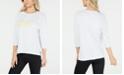 Calvin Klein Ombré Logo High-Low Hem Top