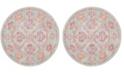 Safavieh Windsor Spa and Fuchsia 6' x 6' Round Area Rug