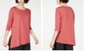 Eileen Fisher Asymmetrical Vented-Hem Tencel ™ Top, Regular & Petite, Created for Macy's