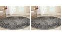 Safavieh Adirondack Gray and Black 8' x 8' Round Area Rug