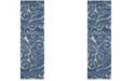 "Safavieh Shag Light Blue and Cream 2'3"" x 6'6"" Area Rug"