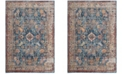 Safavieh Bristol Blue and Light Gray 4' x 6' Area Rug