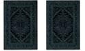 Safavieh Adirondack Black and Teal 4' x 6' Area Rug