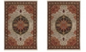 Safavieh Kashan Ivory and Red 9' x 12' Area Rug