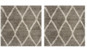 Safavieh Hudson Gray and Ivory 5' x 5' Square Area Rug