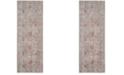 Safavieh Windsor Gray and Fuchsia 3' x 8' Area Rug