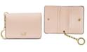 Michael Kors Crossgrain Leather Key Ring Card Holder
