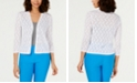 Charter Club Pointelle Completer Cardigan, Created for Macy's