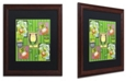 "Trademark Global Jennifer Nilsson St Patty Collage Matted Framed Art - 11"" x 14"" x 0.5"""