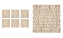 Design Imports Woven Paper Square Placemat, Set of 6