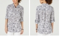 Charter Club Petite Linen Utility Shirt, Created for Macy's