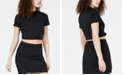 Material Girl Juniors' Lace-Up Rib-Knit Crop Top, Created for Macy's