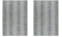 "Safavieh Courtyard Light Gray and Blue 6'7"" x 6'7"" Sisal Weave Round Area Rug"