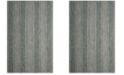 "Safavieh Courtyard Light Gray and Teal 6'7"" x 9'6"" Sisal Weave Area Rug"