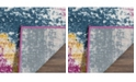 "Safavieh Watercolor Fuchsia and Orange 6'7"" x 9' Area Rug"