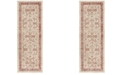 Safavieh Windsor Ivory and Red 3' x 12' Area Rug