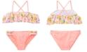 Summer Crush Big Girls 2-Pc. Ruffle Printed Bikini