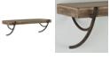 Household Essentials Folding Wood Wall Shelf