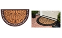 Home & More Printed Ornate Scroll 2' x 3' Coir/Rubber Doormat